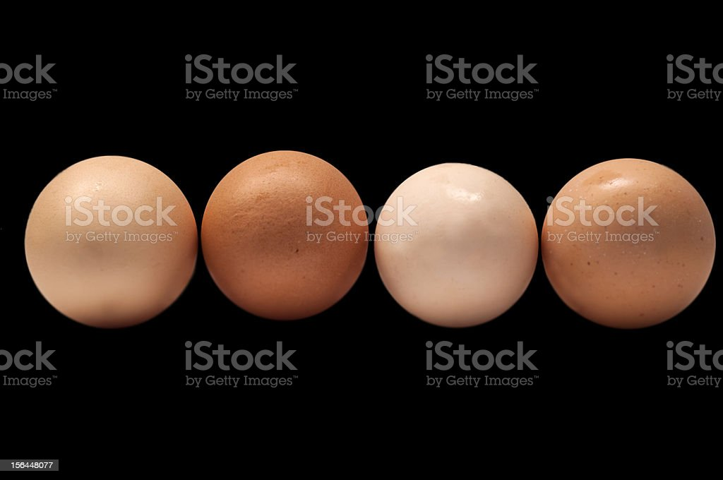 eggs on a black background royalty-free stock photo