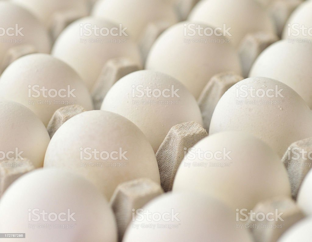 Eggs On A slant royalty-free stock photo