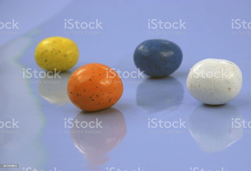 eggs on blue royalty-free stock photo