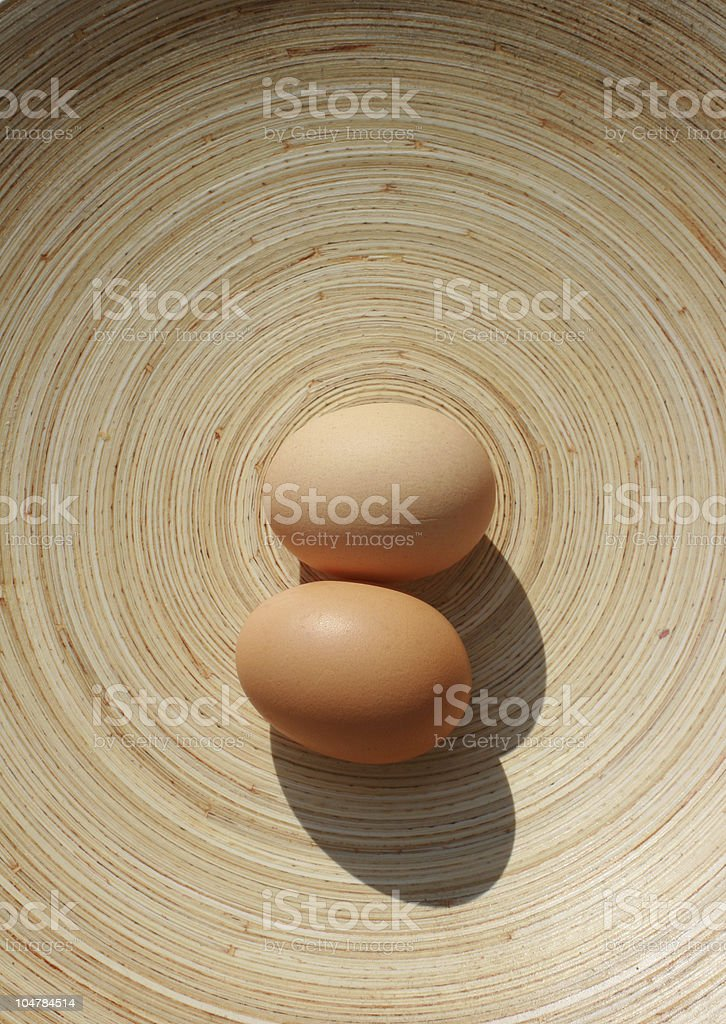 Eggs on Oval Plate royalty-free stock photo