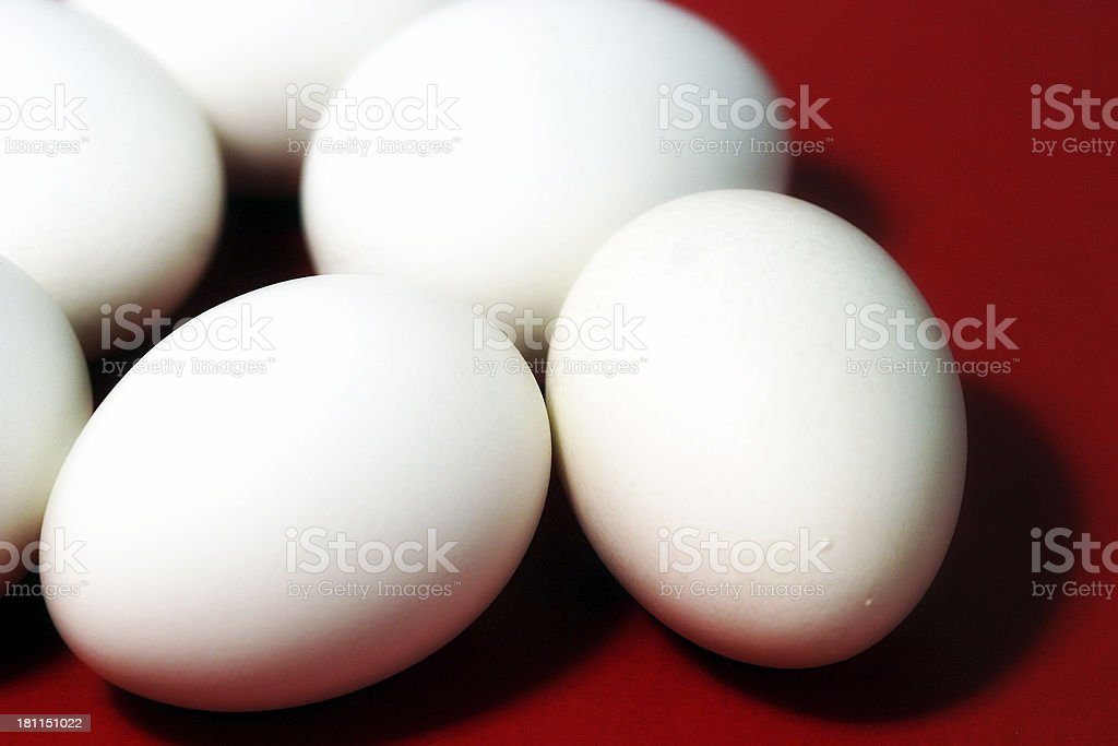 Eggs on Red. royalty-free stock photo