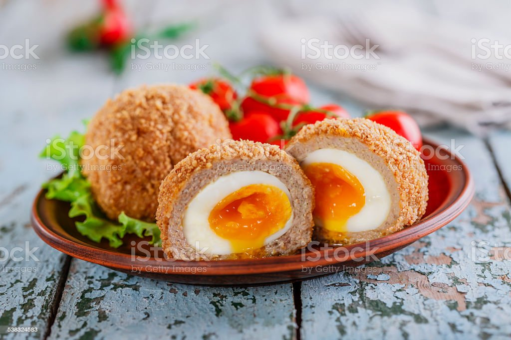 eggs on Scottish stock photo