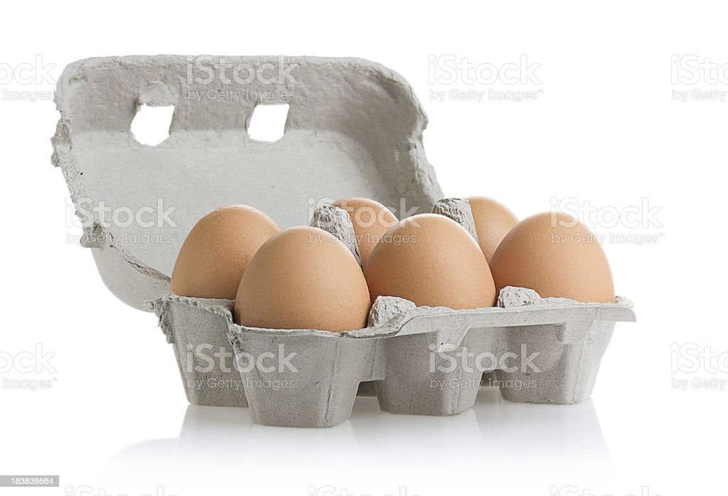 Eggs (Clipping Path) stock photo