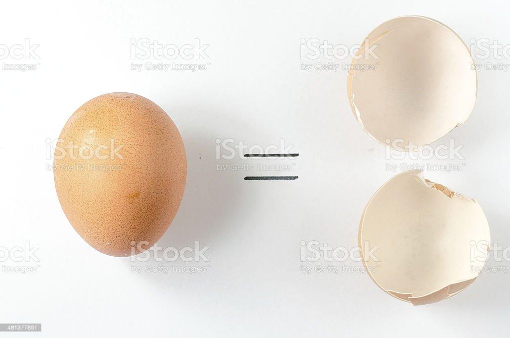 0=0 Eggs stock photo
