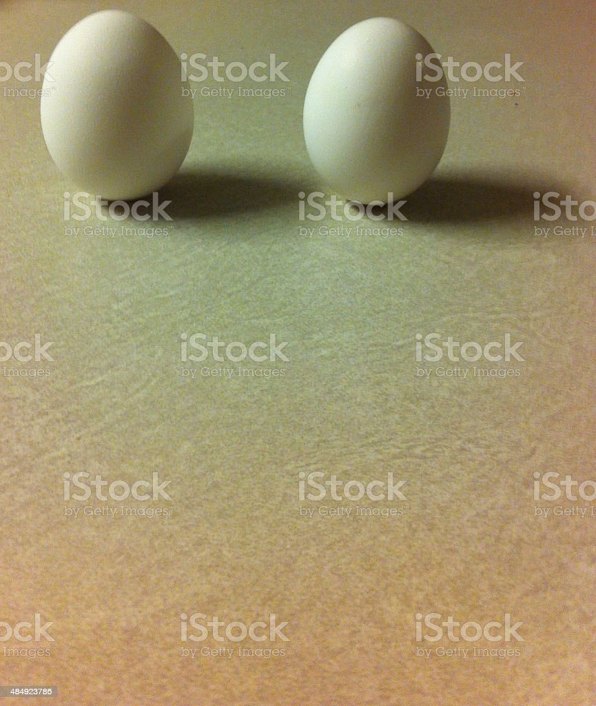Eggs standing stock photo