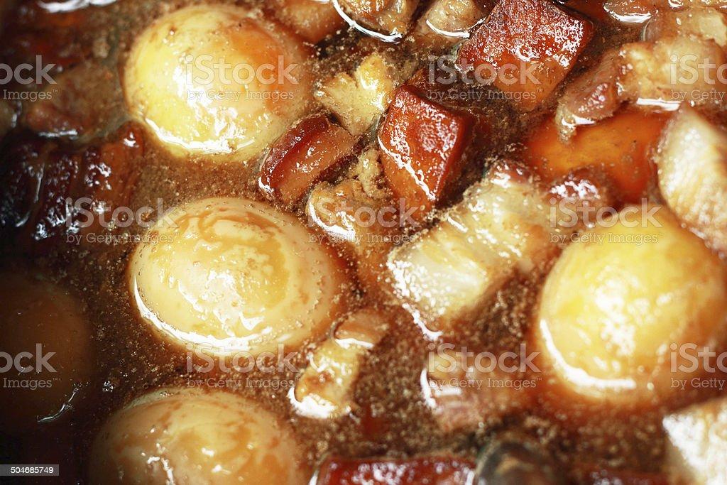 Eggs, stewed pork with tofu royalty-free stock photo