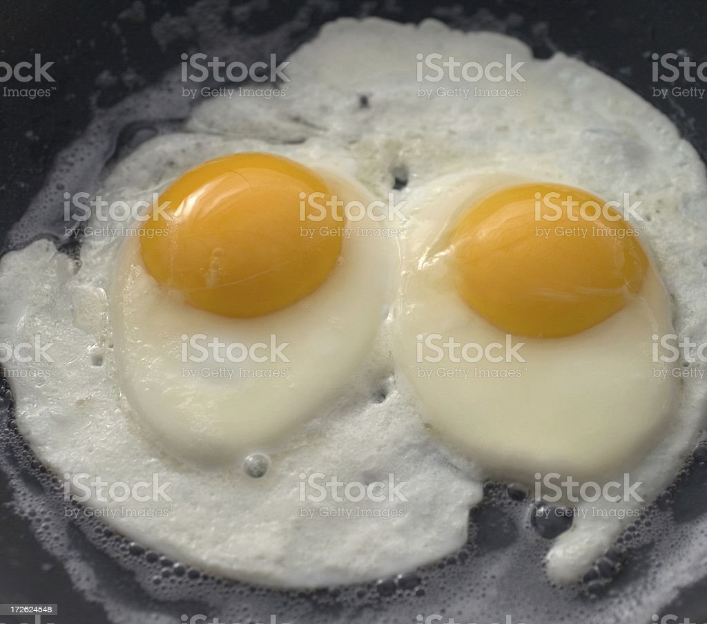 Eggs Sunny Side Up royalty-free stock photo