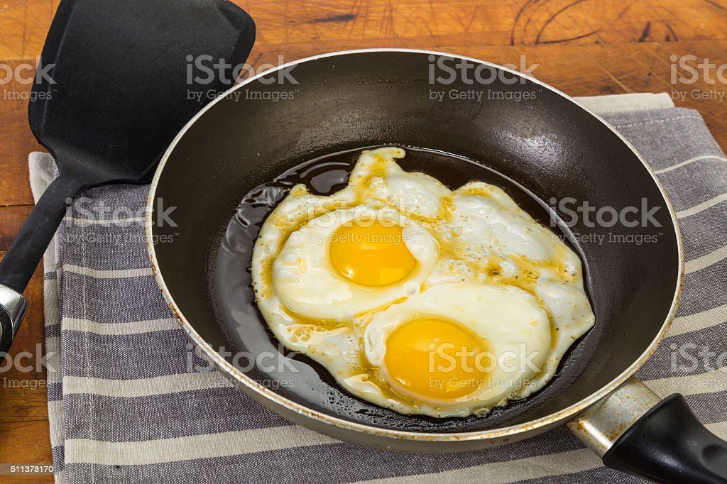 Eggs Sunny Side Up stock photo