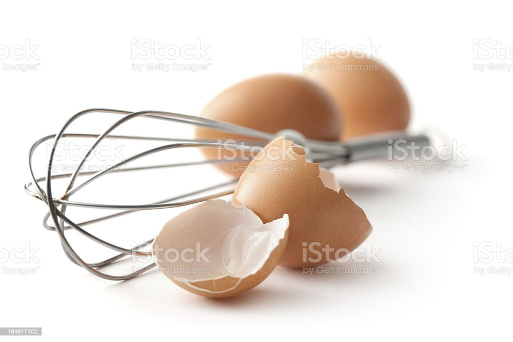 Eggs: Whisk and Eggs royalty-free stock photo
