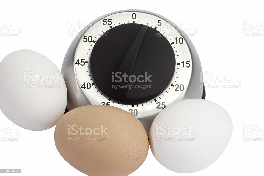Eggs with Egg Timer royalty-free stock photo