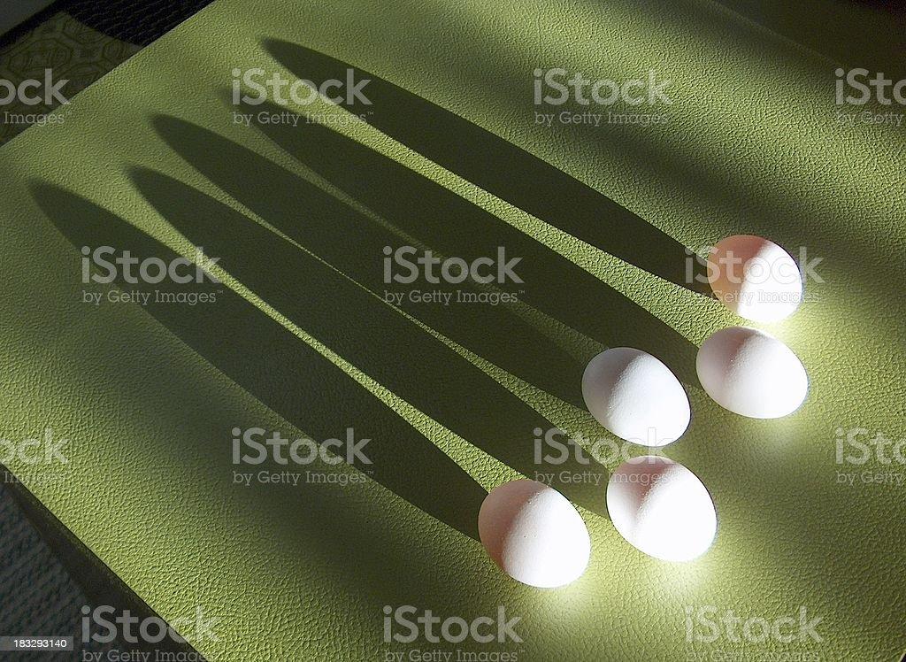Eggs_Long Shadows royalty-free stock photo