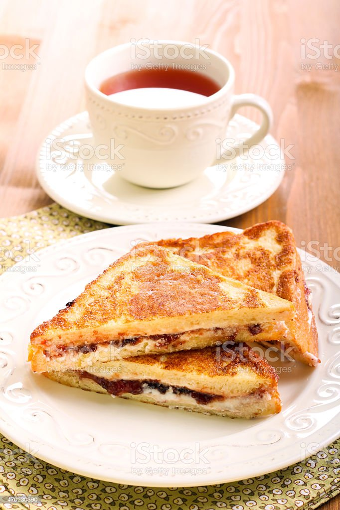 Eggy bread or French toast stock photo