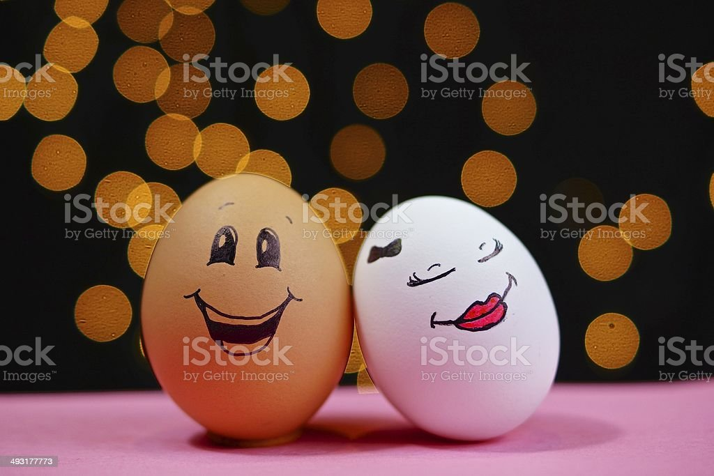 Eggy Couple stock photo