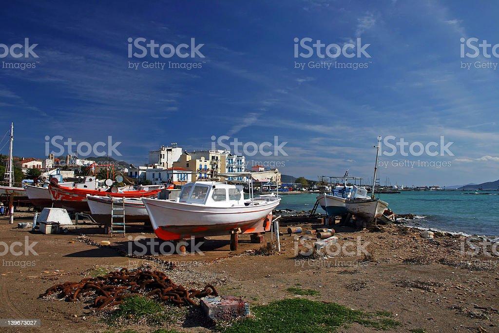 Egina port royalty-free stock photo