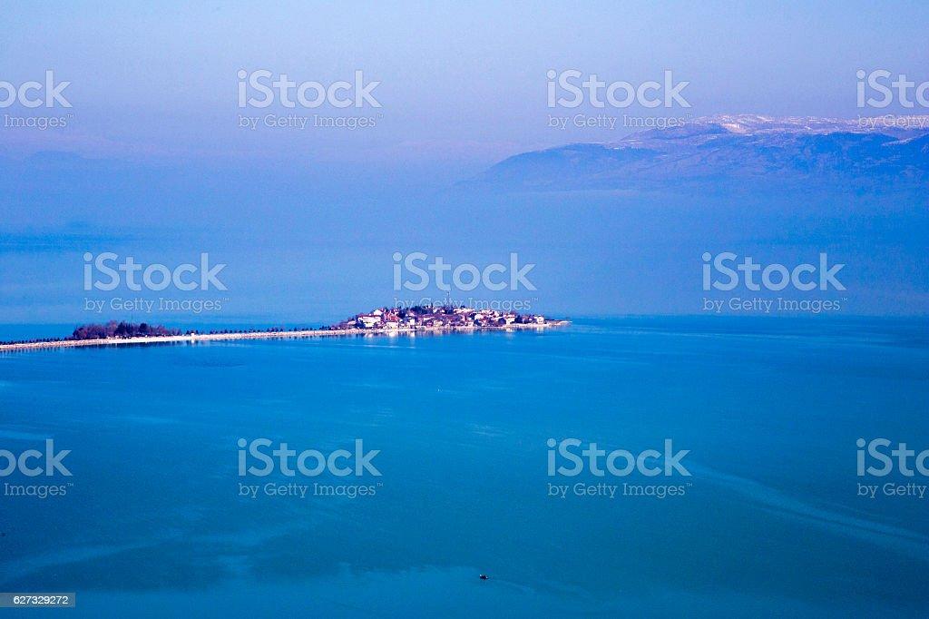Egirdir lake. stock photo
