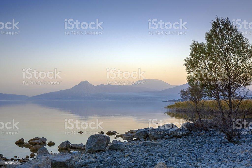 Egirdir Lake, Turkey stock photo