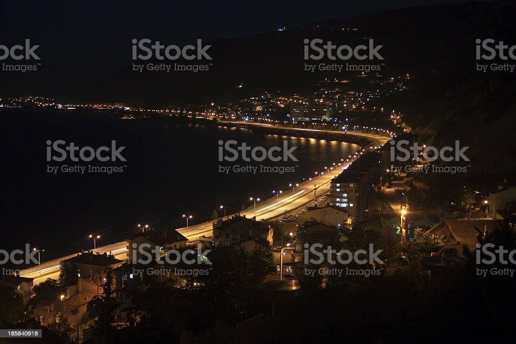 Egirdir town stock photo