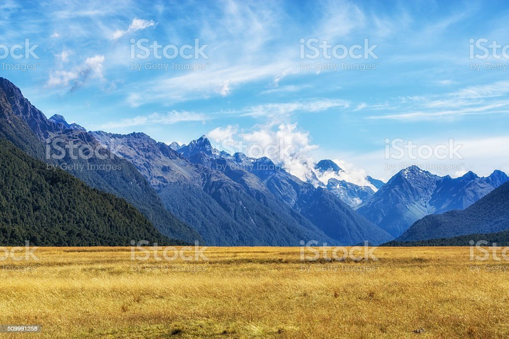 eglinton valley stock photo