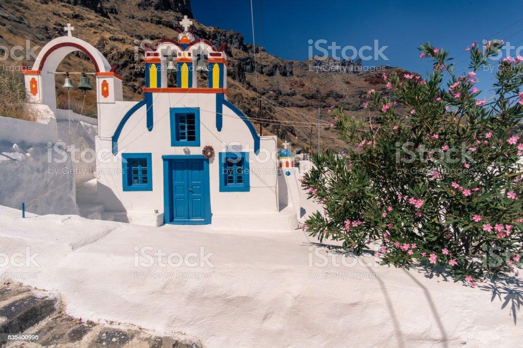 Eglise de Manolas stock photo