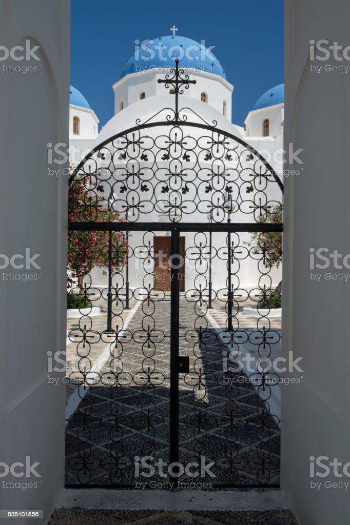 Eglise de Périssa stock photo