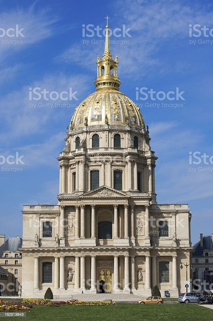 Eglise du Dôme, Les Invalides, Paris royalty-free stock photo