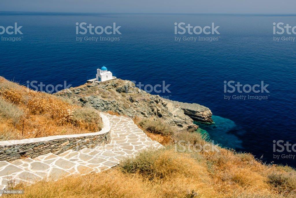 Eglise Eftamartyres, Kastro, Sifnos, Grèce stock photo