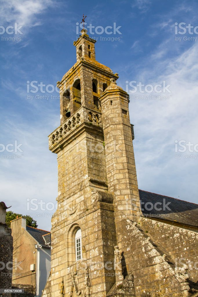 Eglise saint Raymond à Audierne, Finistère, Bretagne stock photo