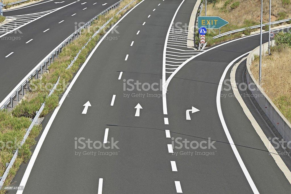 Egnatia motorway in Greece stock photo
