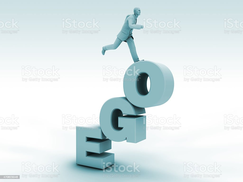 Ego and Career Stairs stock photo