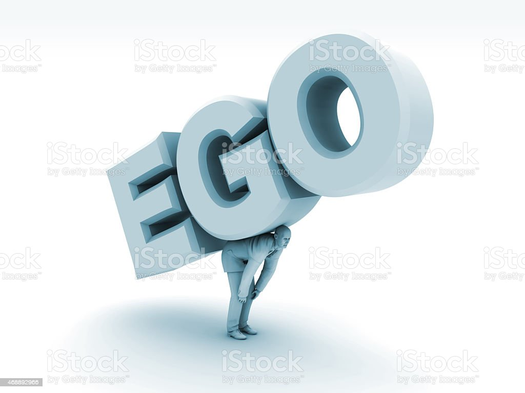 Ego is a Heavy Load stock photo