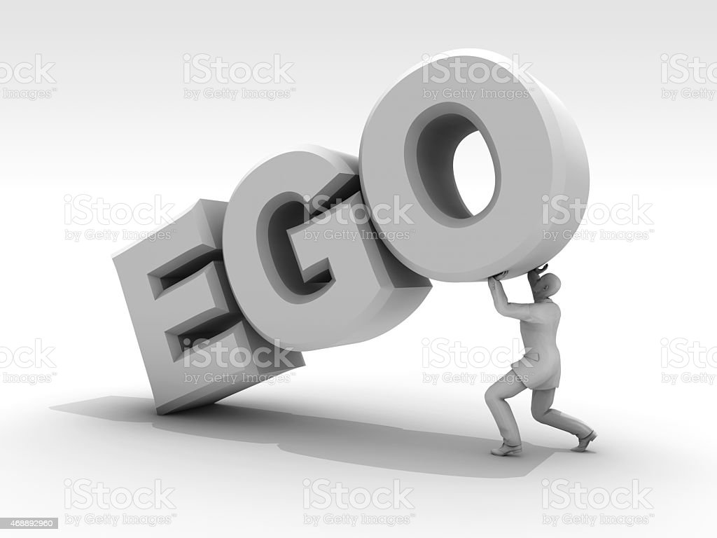 Ego is Difficult to Move stock photo