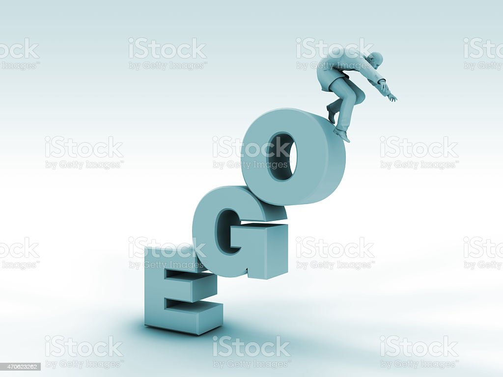 Ego Stairs and Poor Last stock photo