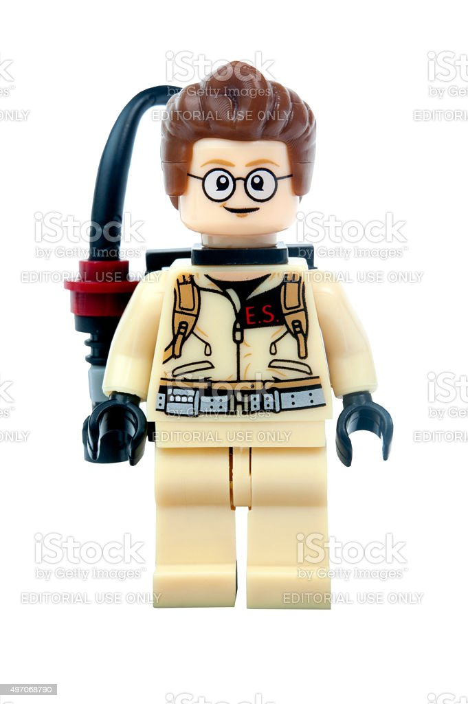 Egon Spengler Ghostbusters Lego Minifigure stock photo