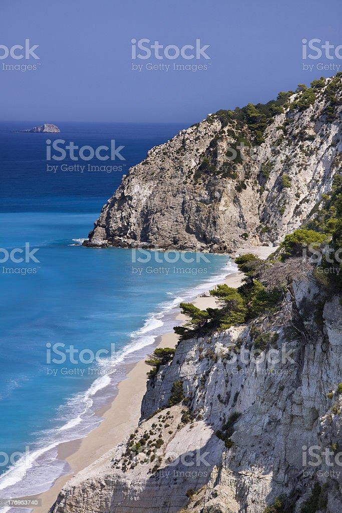 Egremni beach (Lefkada island,Greece) royalty-free stock photo