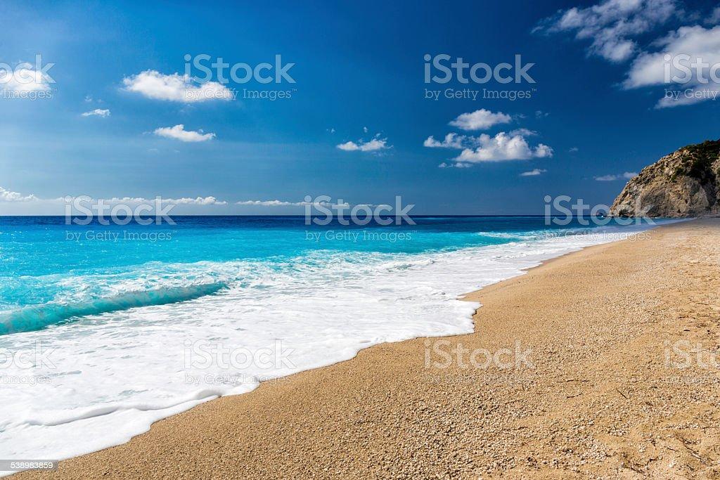 Egremni beach stock photo