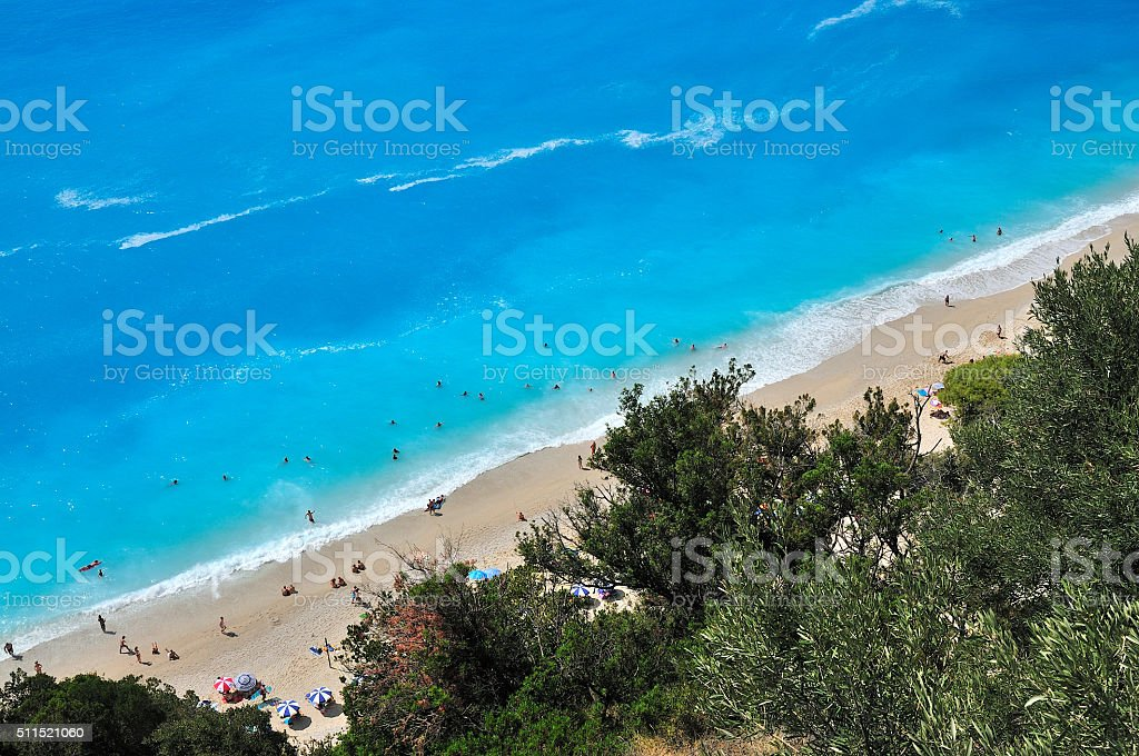 Egremnoi beach stock photo
