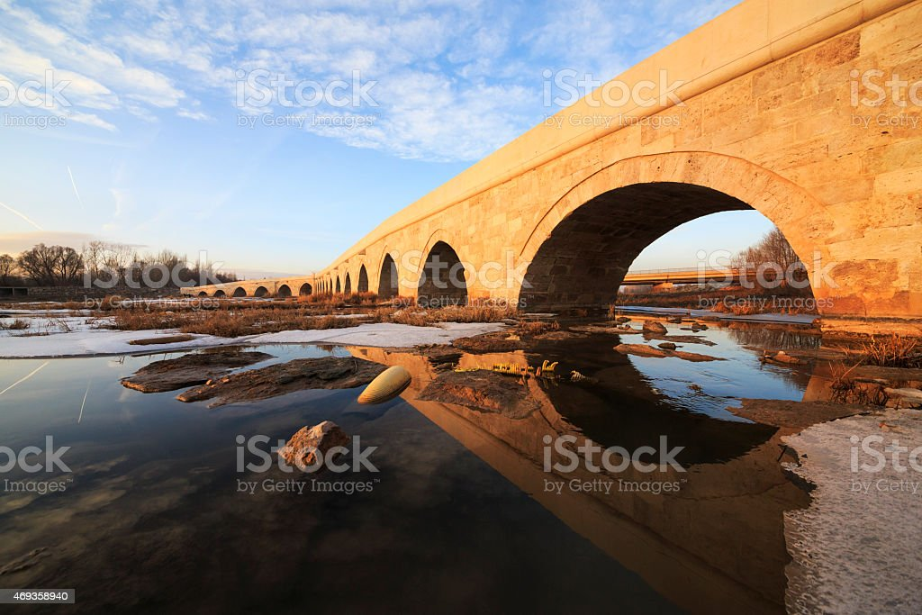 Egri Bridge in Sivas stock photo