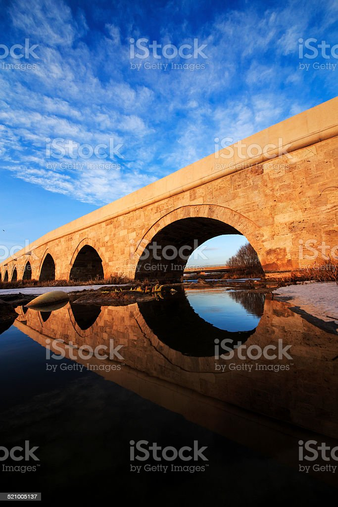 Egri Bridge in Sivas Turkey stock photo