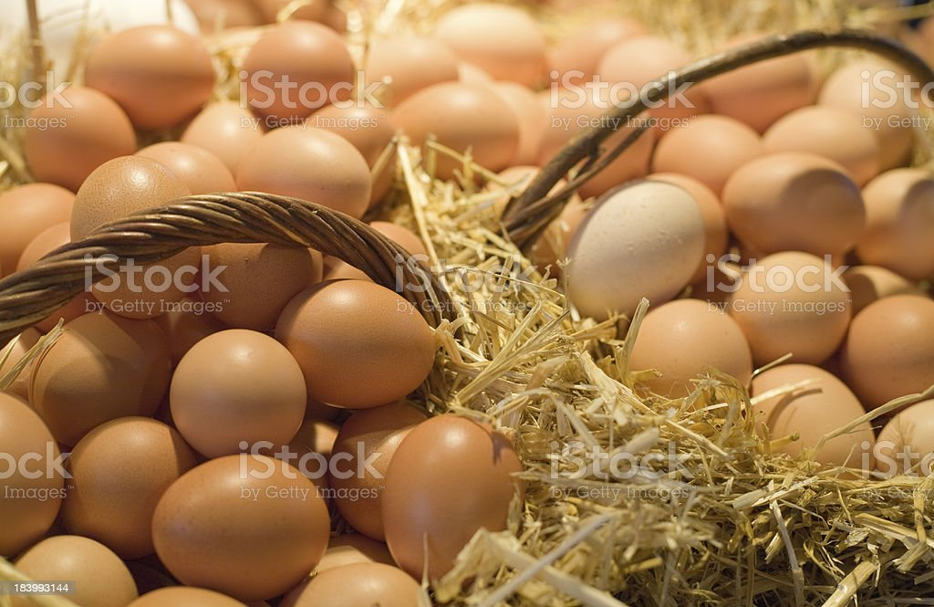 Egss in baskets royalty-free stock photo