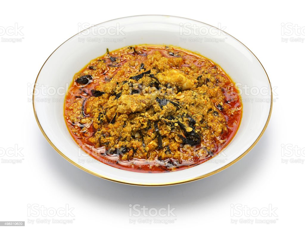 egusi soup, nigerian cuisine stock photo