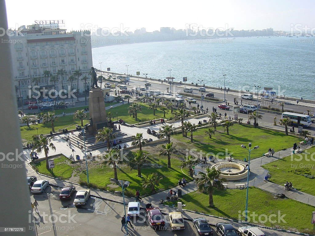 Egypt, Alexandria the pearl of the Mediterranean - The promenade... stock photo