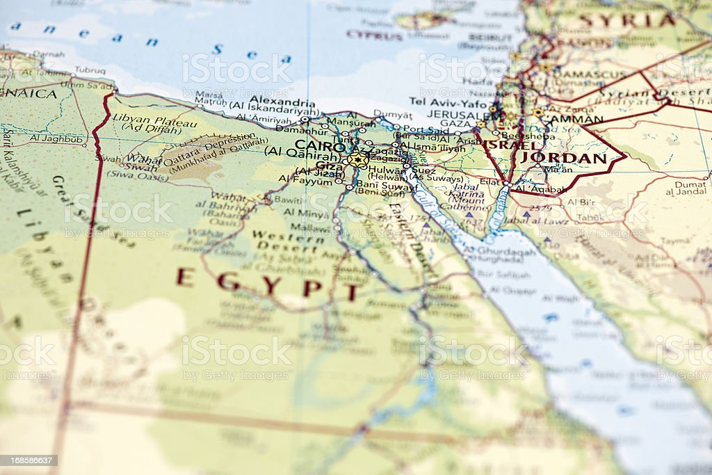 Egypt and Suez canal stock photo