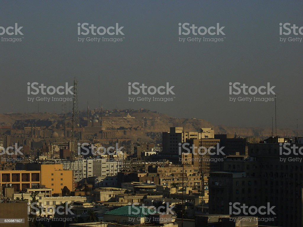 Egypt – Cairo, view over the City to Citadel…. stock photo