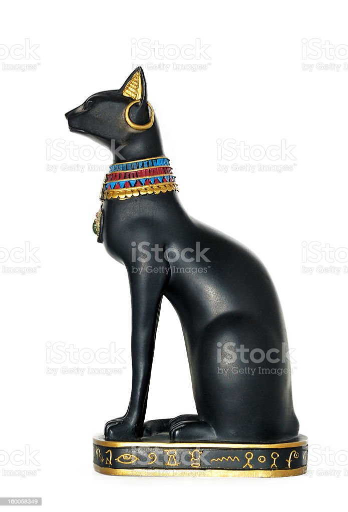 Egypt cat statue stock photo