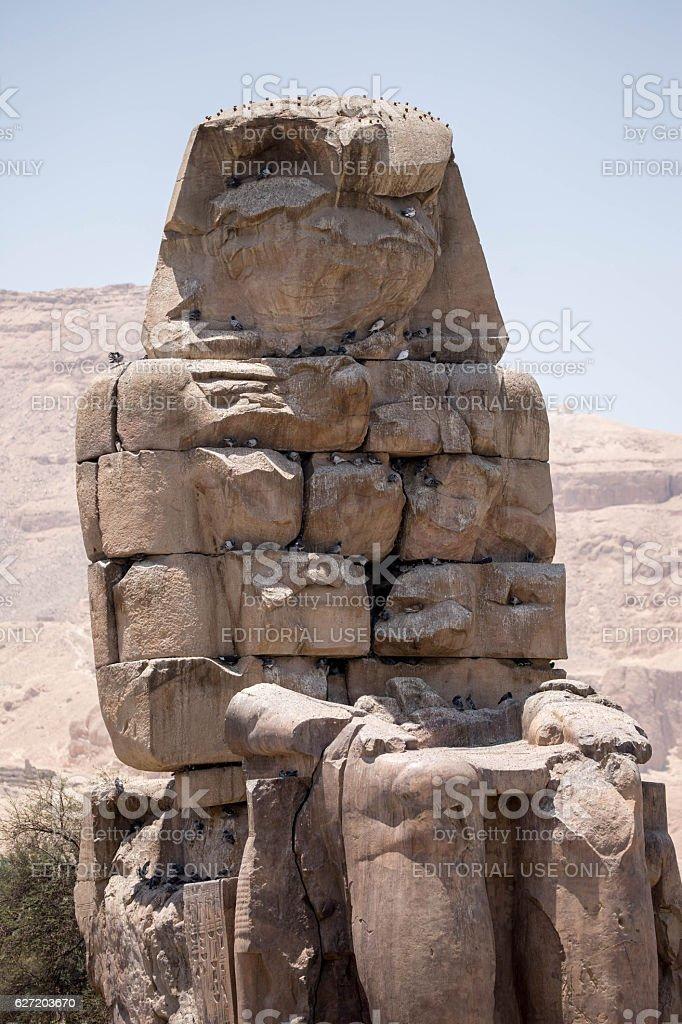 Egypt: Colossi of Memnon in Luxor stock photo
