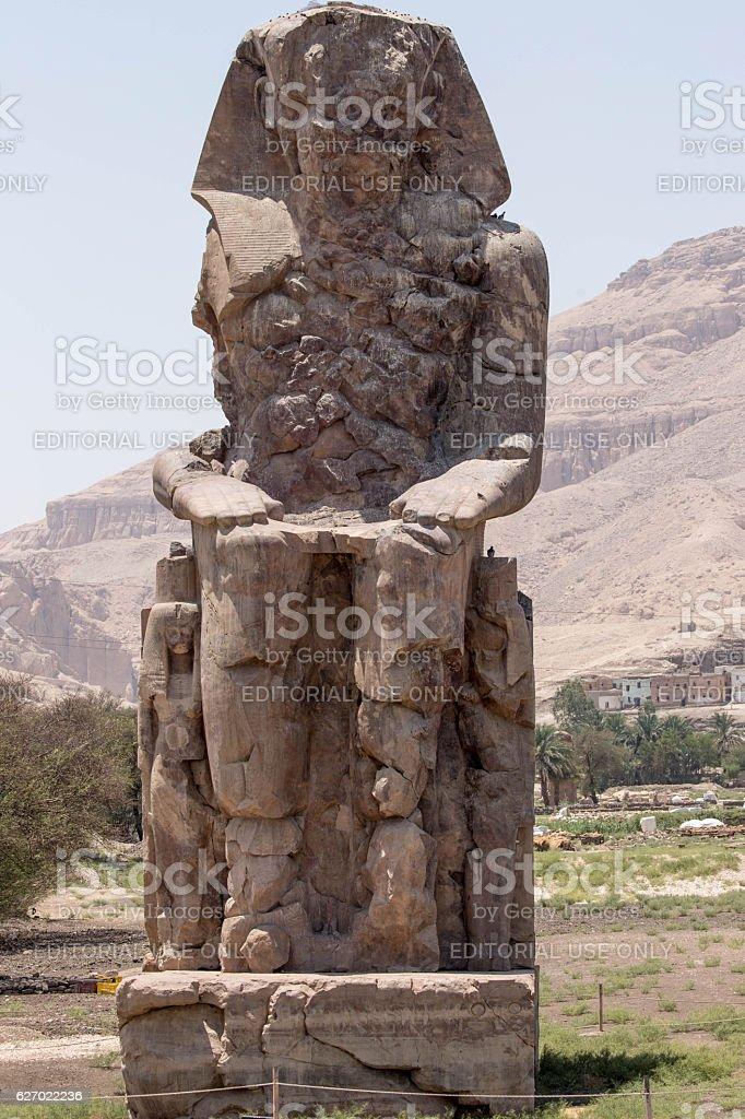 Egypt: Colossi of Memnon stock photo