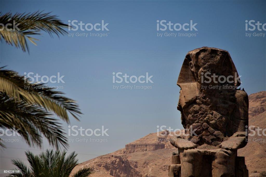 Egypt - Colossi of Memnon stock photo