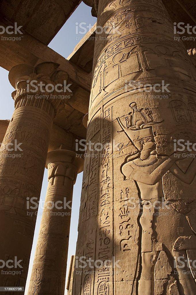 Egypt coloumn stock photo