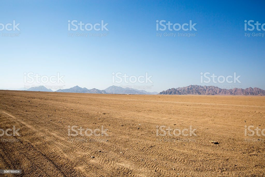 Egypt desert mountain in Africa stock photo
