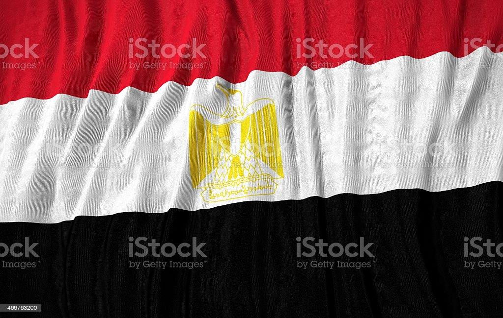 Egypt flag 3d illustration stock photo